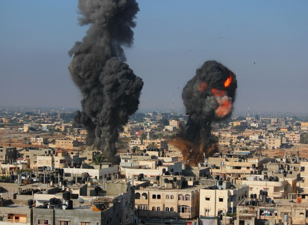Israel-Palestine-Bombs-July-2014