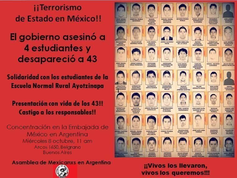 25 de mayo de 2014 México estudiantes desaparecidos